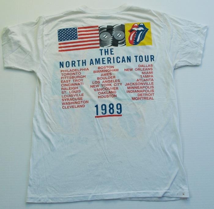 Vintage Rolling Stones  T Shirt Steel Wheels Tour